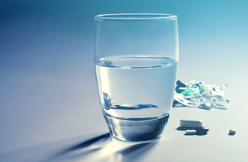 Water and tablets